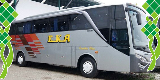 Harga Tiket Mudik Lebaran 2017 Bus EKA Surabaya, Tarif Mudik 2017 Bus EKA Surabaya, Jogja, Solo, Purwokerto, Cilacap