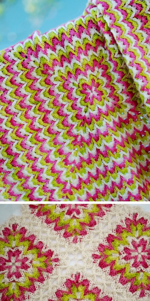 Bargello Crochet Blanket - Free Pattern