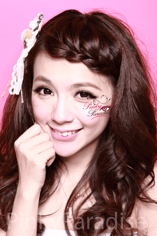 G&G Angel Ex Black Circle Lenses (Colored Contacts) Model 2