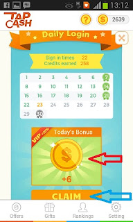 Bonus-harian-tapcash-claim