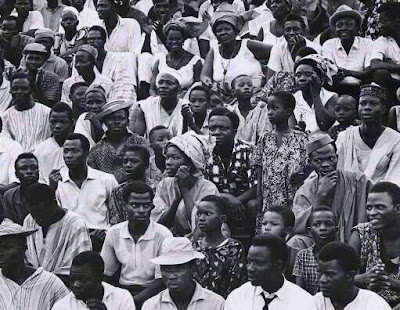 Spectators on Nigeria's independence day 1960.
