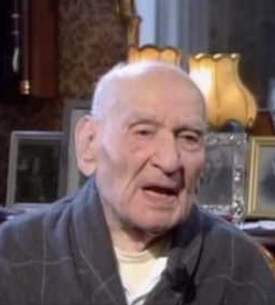 Carlo Orelli in a TV documentary about his  life and wartime experiences