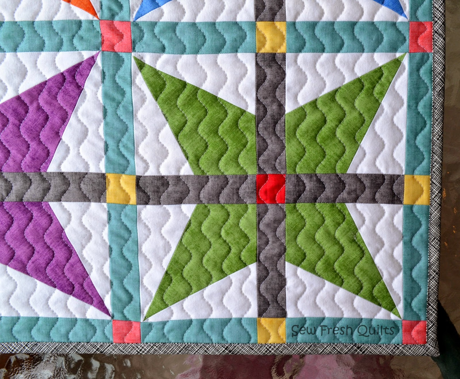 Marking Quilting Designs On Your Top : Sew Fresh Quilts: Top 10 Tips for New Quilters - Quilting with your Walking Foot