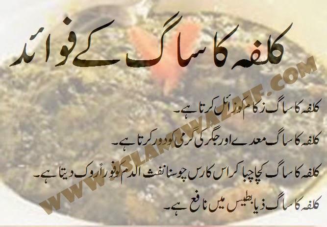 kulfa ke saag ke fawaid in urdu