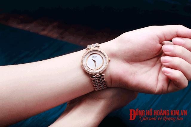 Đồng hồ nữ dây thép thời trang- 01