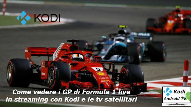 Come vedere i gp di Formula 1 con app Android e Kodi