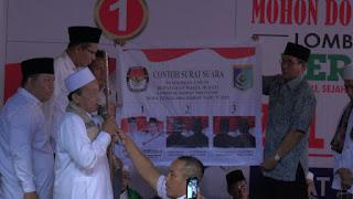 <b>Maksimalkan Konsolidasi Pemenangan, Izzul-Khudari Resmikan Posko Utama Di Labuapi</b>