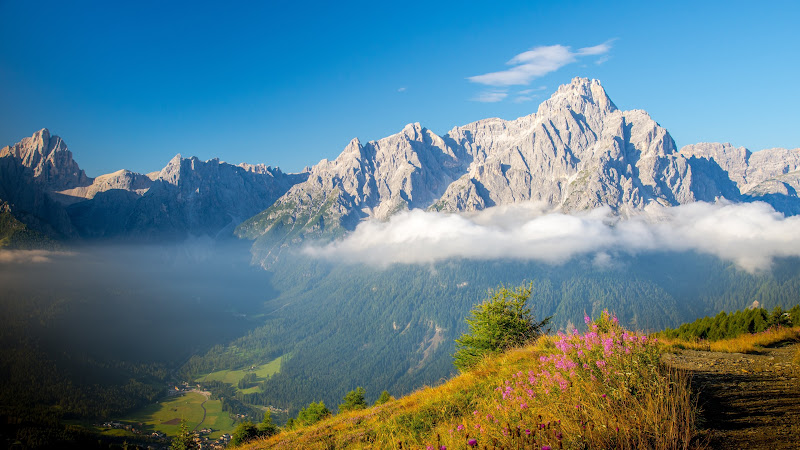 Nature Landscape with the Dolomites Mountains 3