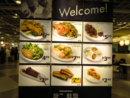 Ikea Ottawa Restaurant Breakfast Menu