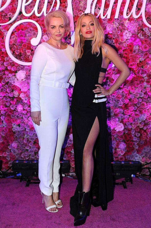 Rita Ora and mom