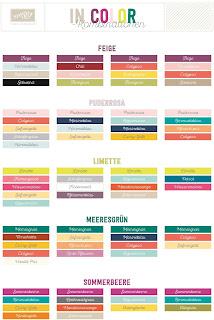 Farbkombinationen für die Stampin' Up! In Colors 2017-19
