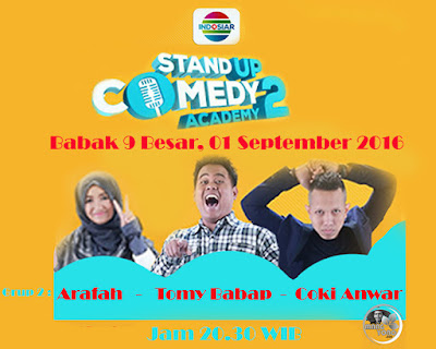 Stand Up Comedy Academy ( SUCA ) 2, Babak 9 Besar, Grup 2
