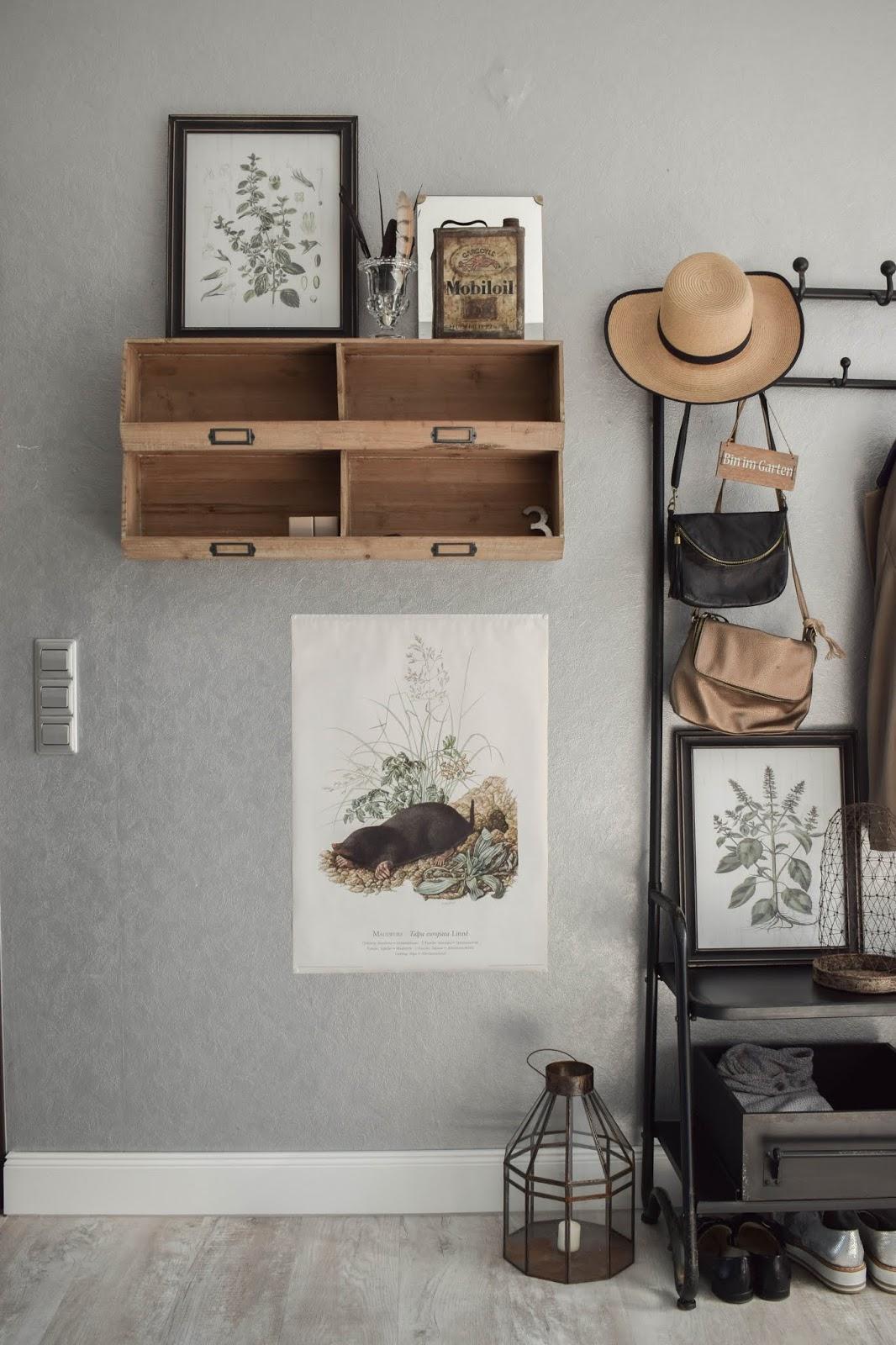 Garderobe Diele Flur Eingangsbereich Deko Dekoidee Interior Einrichtung botanisch 6