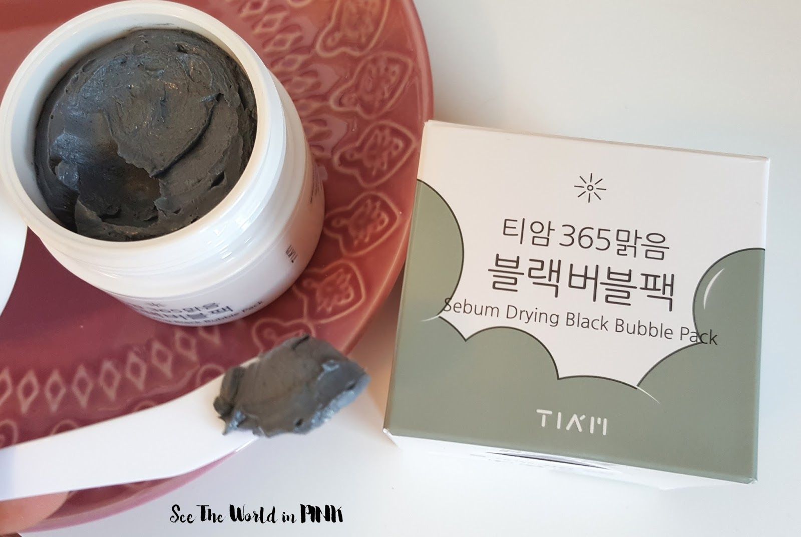 Mask Thursday - [JOLSE] TIA'M Sebum Drying Black Bubble Pack 80ml Review!