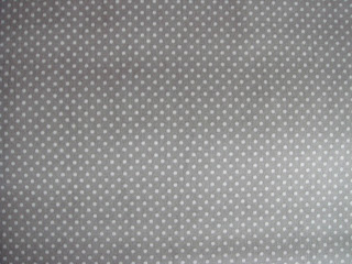 Gray fabric with dots