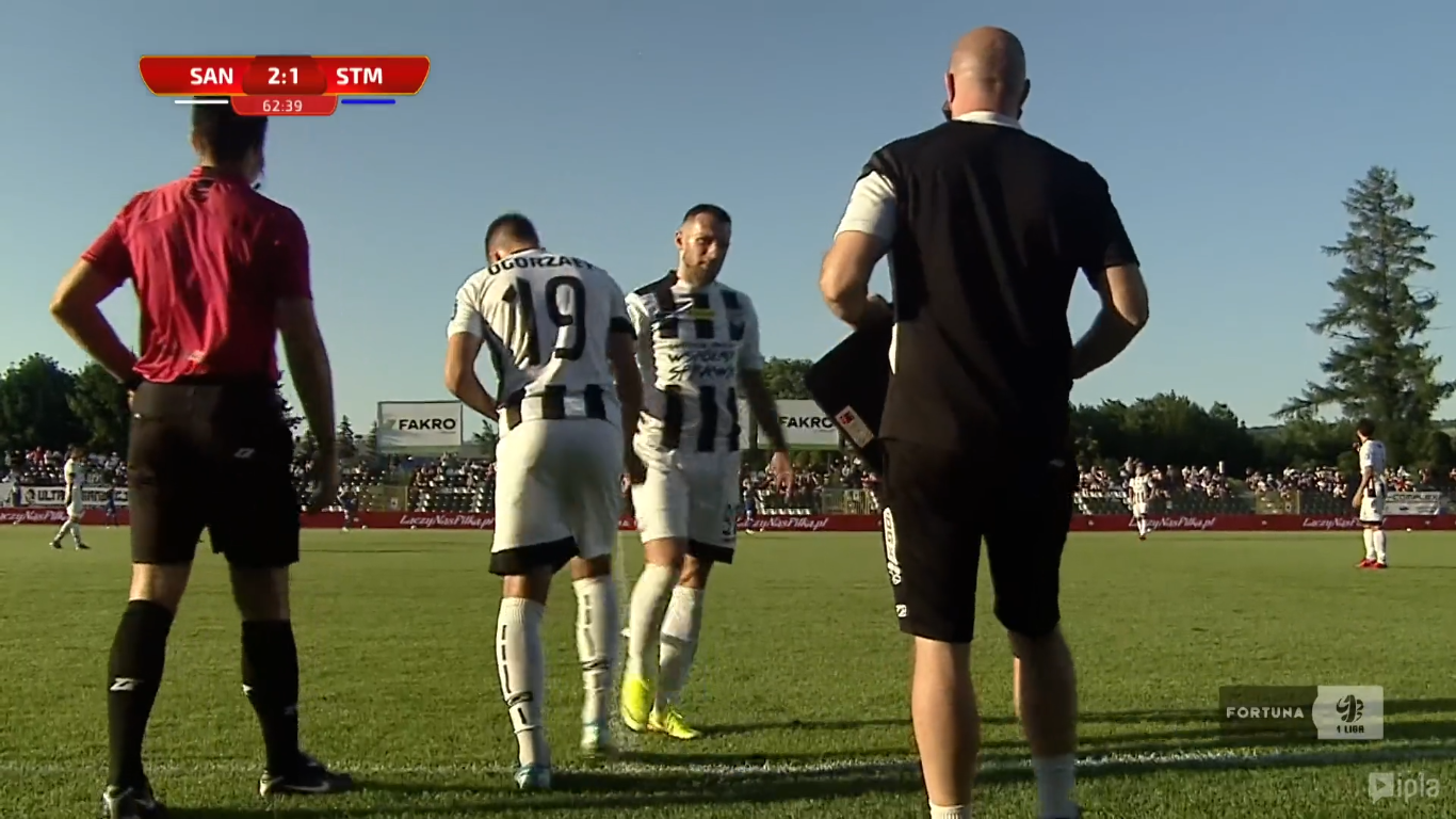 31. kolejka: Sandecja Nowy Sącz - Stal Mielec 2:1<br><br>fot. Polsat Sport / IPLA