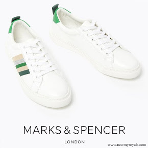 Kate Middleton wore Marks & Spencer Ribbon Detail Lace Up Trainers