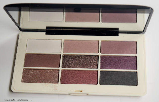 H&M Eye Color Palette Aubergine Dream Shades & Swatches