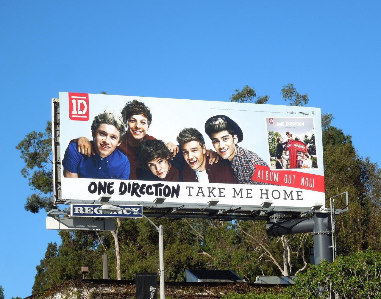 Daily Billboard: One Direction Take Me Home album billboards