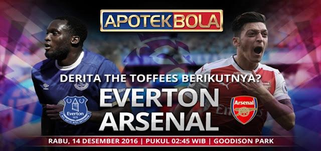 Prediksi Pertandingan Everton vs Arsenal 14 Desember 2016