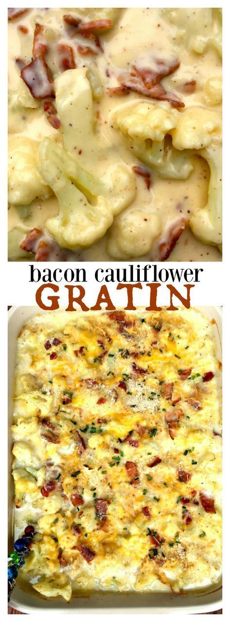 Cauliflower Bacon Gratin