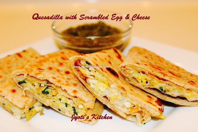 Quesadilla Scrambled Egg Cheese Recipe