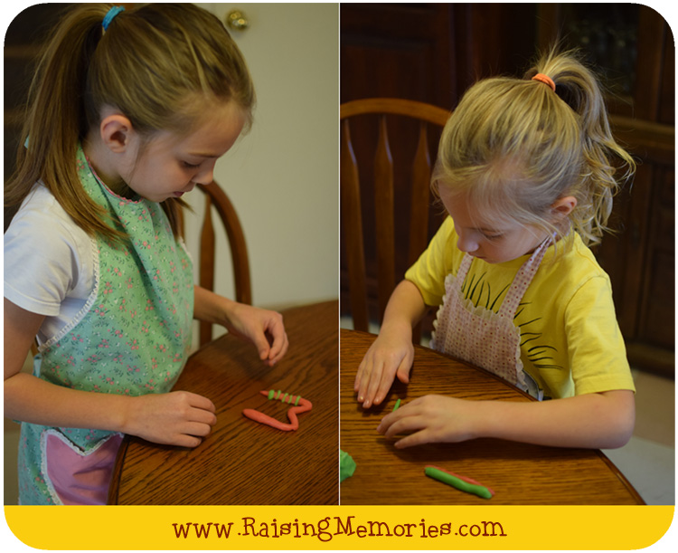 How to Make Play Doh Cookies Tutorial by www.RaisingMemories.com