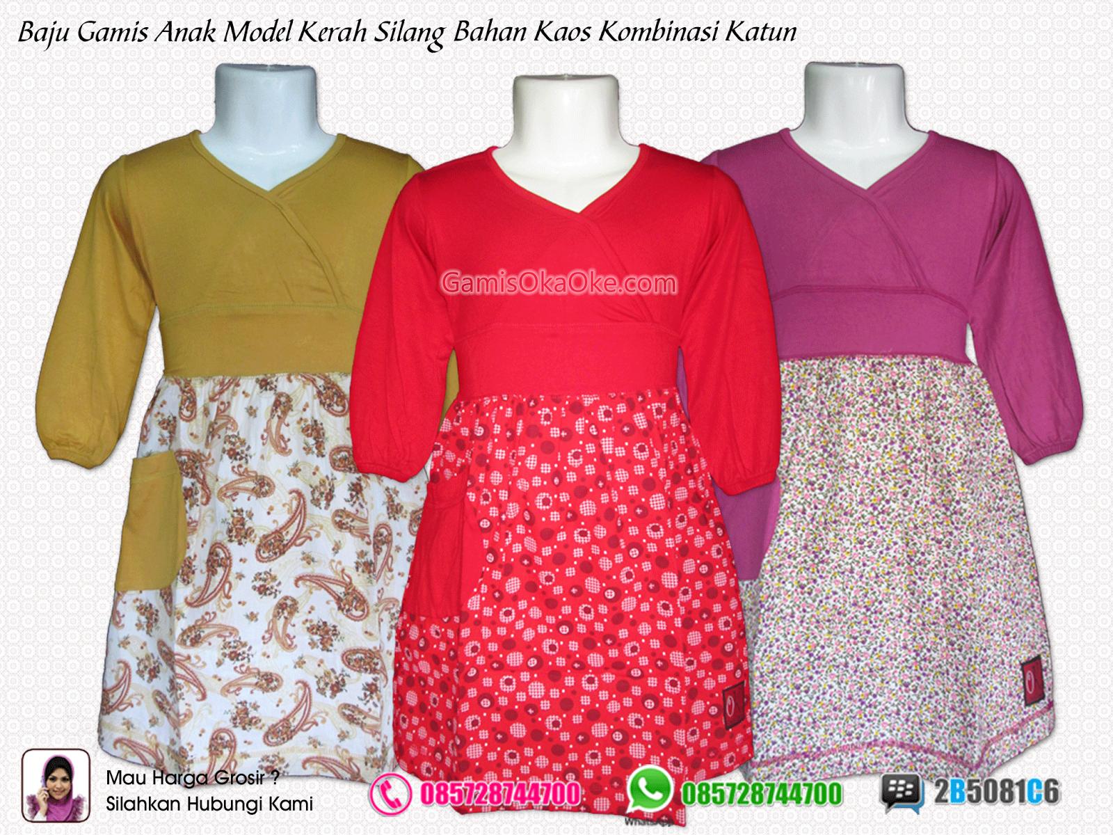 Grosir baju gamis anak remaja perempuan terbaru bahan kaos Contoh baju gamis anak