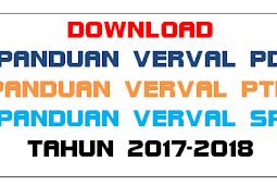 Download Panduan VERVAL PD, VERVAL PTK, VERVAL SP Tahun 2017-2018