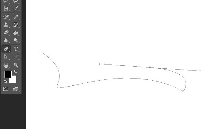 cara buat garis dengan pen tool