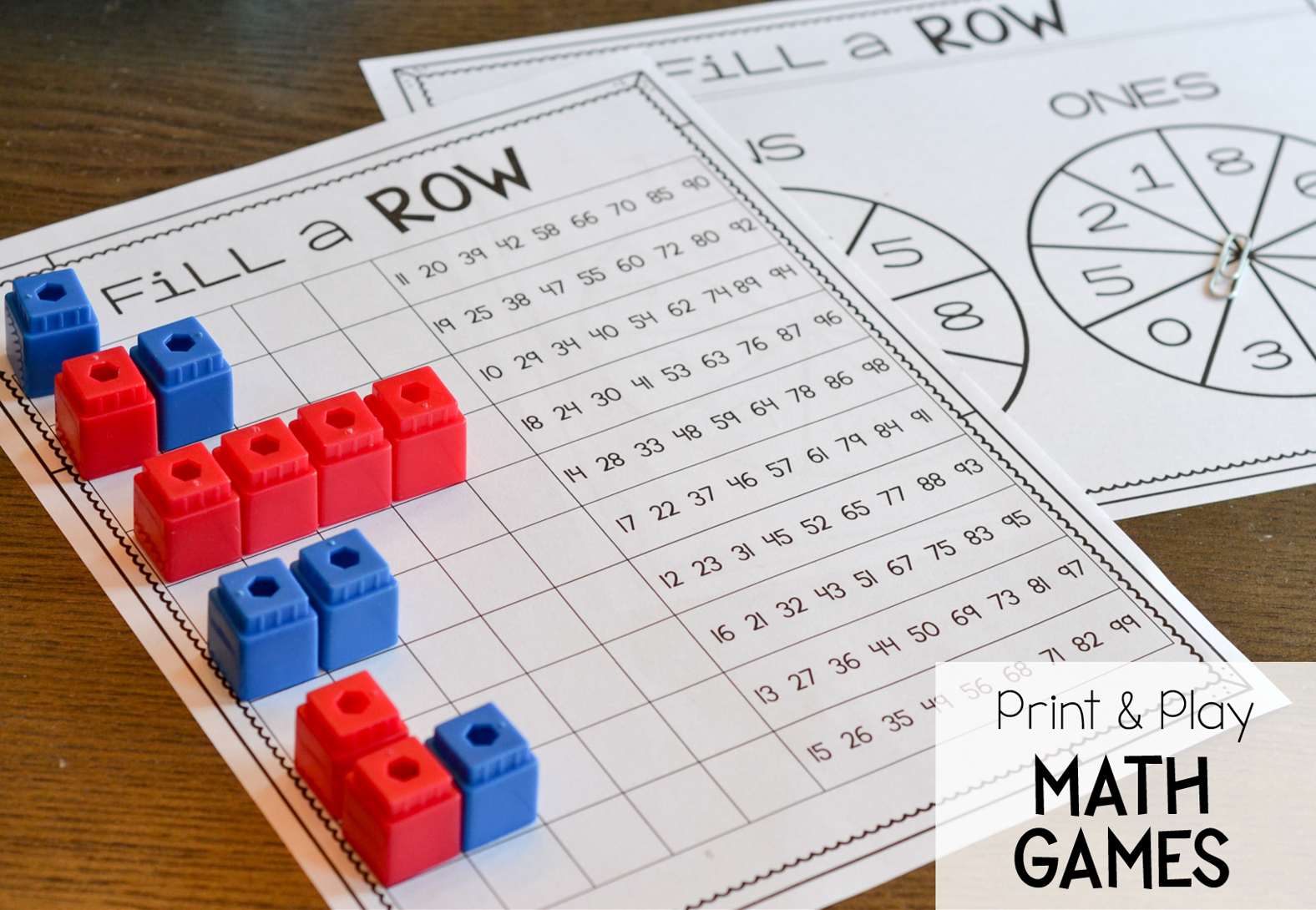 Place Value Print And Play Games
