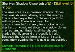 naruto castle defense 6.0 Shuriken Shadow Clone detail