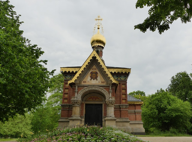 Kurpark in Bad Homburg - Russische Kapelle.