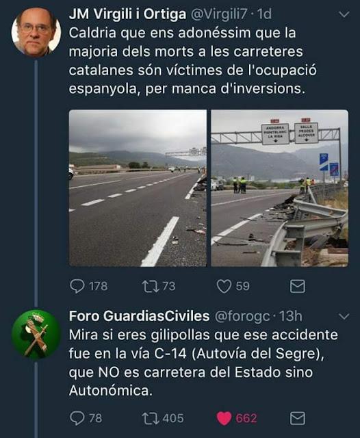 JM Virgili i Ortiga , morts, carretera, Espanya, C14, autovía,catanazi