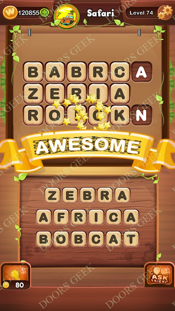 Word Bright Level 74 Answers, Cheats, Solutions, Walkthrough for android, iphone, ipad and ipod