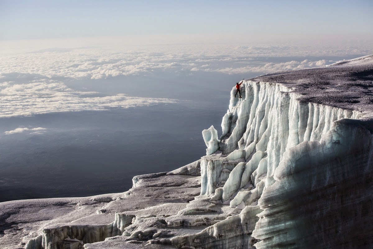 Ice Climbing The Glaciers At The Top Of Kilimanjaro Snow