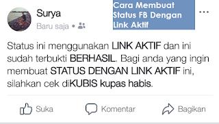 Cara Membuat Status FB Dengan Link Aktif