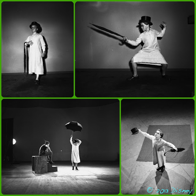 Paul Collins, at age 15 on the set of Peter Pan, acting out John Darling #PeterPanDiamond