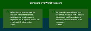 Testimoni pengguna Wordpress.com