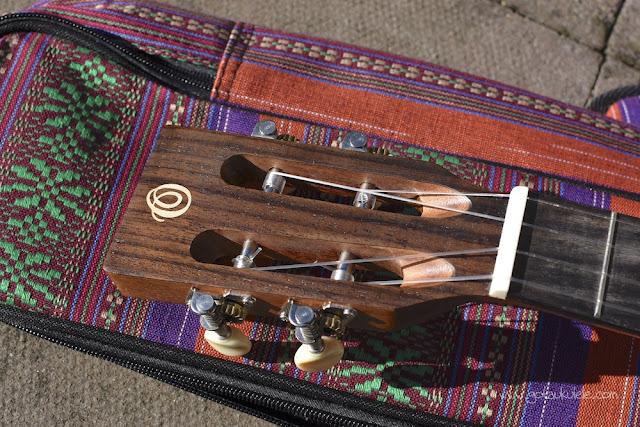 Ohana BK-70 Baritone ukulele headstock