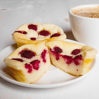 mini tarta de queso y frambuesa