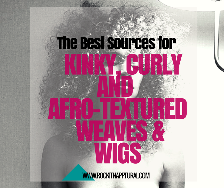 kinky curly natural hair weave extensions