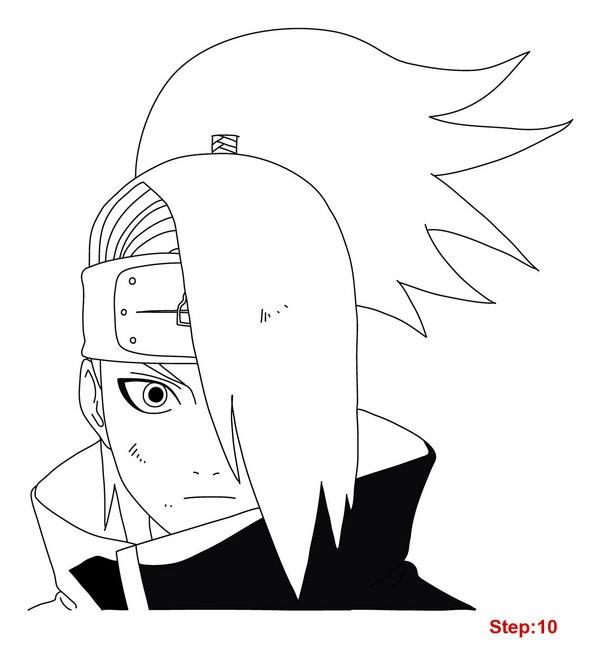 How To Draw Deidara Naruto Shippuden