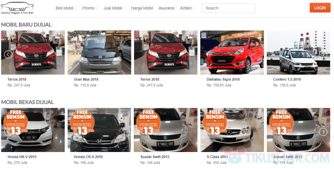 Situs Online Jual Beli Mobil Bekas Terbaik di Indonesia