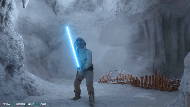 Luke Skywalker Hoth Wampa Cave Wallpaper Engine