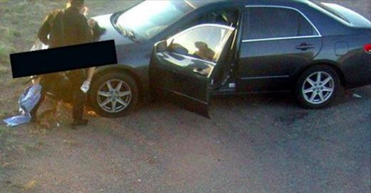 Un policier en fonction se tape une fille sur le capot d'une voiture (photo)