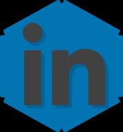 linkedin hexagon icon