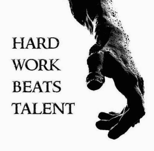 Motivational quote on working hard