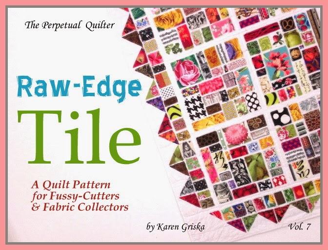 Karen Griska Quilts Raw Edge Tile Quilt Pattern