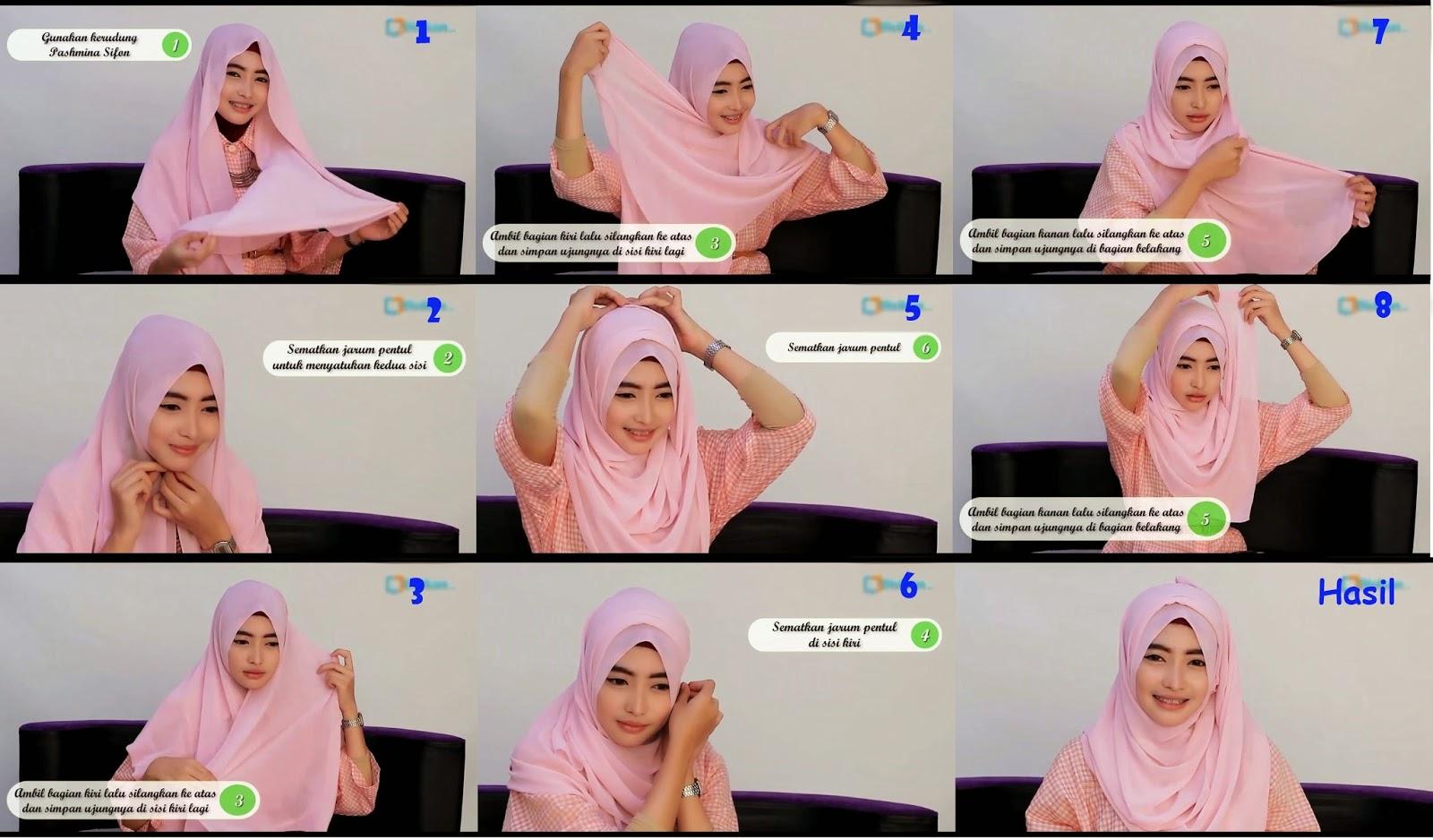 Tutorial Cara Memakai Jilbab Pashmina BBT Blog Baca Tulis